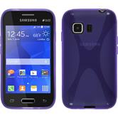Silicone Case for Samsung Galaxy Young 2 X-Style purple