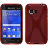 Silicone Case for Samsung Galaxy Young 2 X-Style red