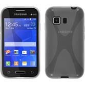 Silicone Case for Samsung Galaxy Young 2 X-Style transparent