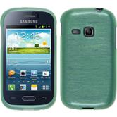Silicone Case for Samsung Galaxy Young brushed green