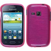 Silicone Case for Samsung Galaxy Young brushed hot pink