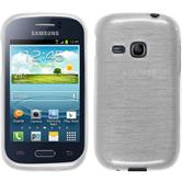 Silicone Case for Samsung Galaxy Young brushed white