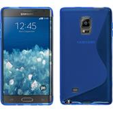 Silicone Case for Samsung Galaxy Note Edge S-Style blue