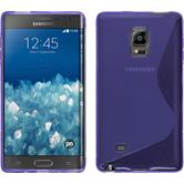 Silicone Case for Samsung Galaxy Note Edge S-Style purple
