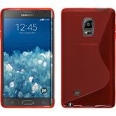 Silicone Case for Samsung Galaxy Note Edge S-Style red