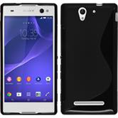 Silicone Case for Sony Xperia C3 S-Style black