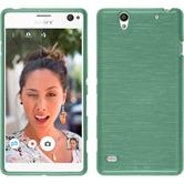 Silicone Case for Sony Xperia C4 / Dual brushed green