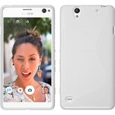 Silicone Case for Sony Xperia C4 / Dual S-Style white
