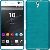 Silicone Case for Sony Xperia C5 Ultra brushed blue