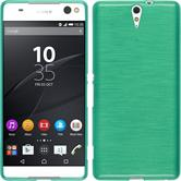 Silicone Case for Sony Xperia C5 Ultra brushed green