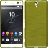 Silicone Case for Sony Xperia C5 Ultra brushed pastel green