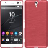 Silicone Case for Sony Xperia C5 Ultra brushed pink