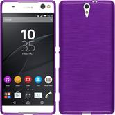 Silicone Case for Sony Xperia C5 Ultra brushed purple
