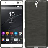 Silicone Case for Sony Xperia C5 Ultra brushed silver