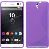 Silicone Case for Sony Xperia C5 Ultra S-Style purple