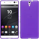 Silicone Case for Sony Xperia C5 Ultra transparent purple