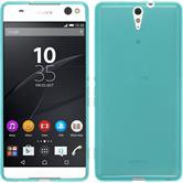 Silicone Case for Sony Xperia C5 Ultra transparent turquoise