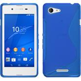 Silicone Case for Sony Xperia E3 S-Style blue