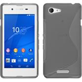 Silicone Case for Sony Xperia E3 S-Style gray