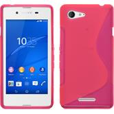 Silicone Case for Sony Xperia E3 S-Style hot pink