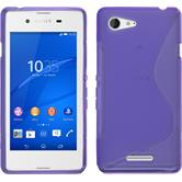 Silicone Case for Sony Xperia E3 S-Style purple