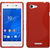 Silicone Case for Sony Xperia E3 S-Style red