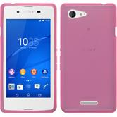 Silicone Case for Sony Xperia E3 transparent pink