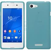 Silicone Case for Sony Xperia E3 transparent turquoise