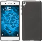Silicone Case for Sony Xperia E5 crystal-case gray