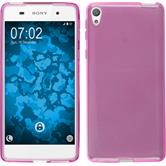 Silicone Case for Sony Xperia E5 crystal-case hot pink