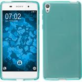 Silicone Case for Sony Xperia E5 crystal-case light blue