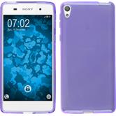 Silicone Case for Sony Xperia E5 crystal-case purple