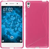 Silicone Case for Sony Xperia E5 S-Style hot pink