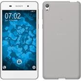 Silicone Case for Sony Xperia E5 Slimcase gray