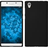 Silicone Case Xperia L1 matt black + protective foils