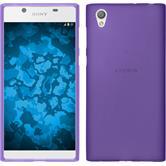 Silicone Case Xperia L1 matt purple + protective foils