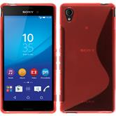 Silicone Case for Sony Xperia M4 Aqua S-Style red