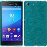 Silicone Case for Sony Xperia M5 brushed blue