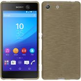 Silicone Case for Sony Xperia M5 brushed gold