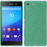 Silicone Case for Sony Xperia M5 brushed green