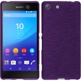 Silicone Case for Sony Xperia M5 brushed purple