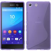 Silicone Case for Sony Xperia M5 S-Style purple