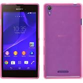 Silicone Case for Sony Xperia Style transparent pink
