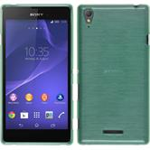 Silicone Case for Sony Xperia T3 brushed green