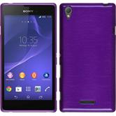 Silicone Case for Sony Xperia T3 brushed purple