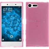 Silicone Case Xperia X Compact crystal-case hot pink
