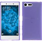 Silicone Case Xperia X Compact crystal-case purple