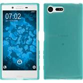 Silicone Case Xperia X Compact crystal-case turquoise