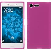 Silicone Case for Sony Xperia X Compact matt hot pink