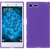 Silicone Case for Sony Xperia X Compact matt purple
